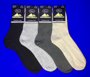 Пирамида носки мужские А-11 хлопок черные