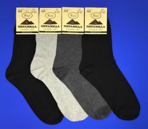 Пирамида носки мужские М-5 хлопок светло-серые