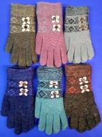 Перчатки женские с бантиком