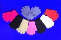 Перчатки детские однотонные с начесом