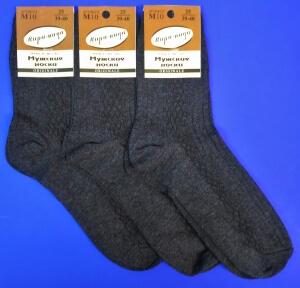 Пирамида носки мужские М-10 темно-серые
