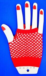 Перчатки короткие сетка (на пальчик) Митенки