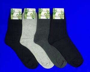 Носки мужские гладкие с крапивой черные